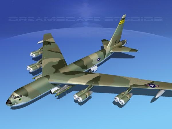 3d stratofortress boeing b-52 bomber model