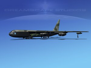 stratofortress boeing b-52 bomber 3d max