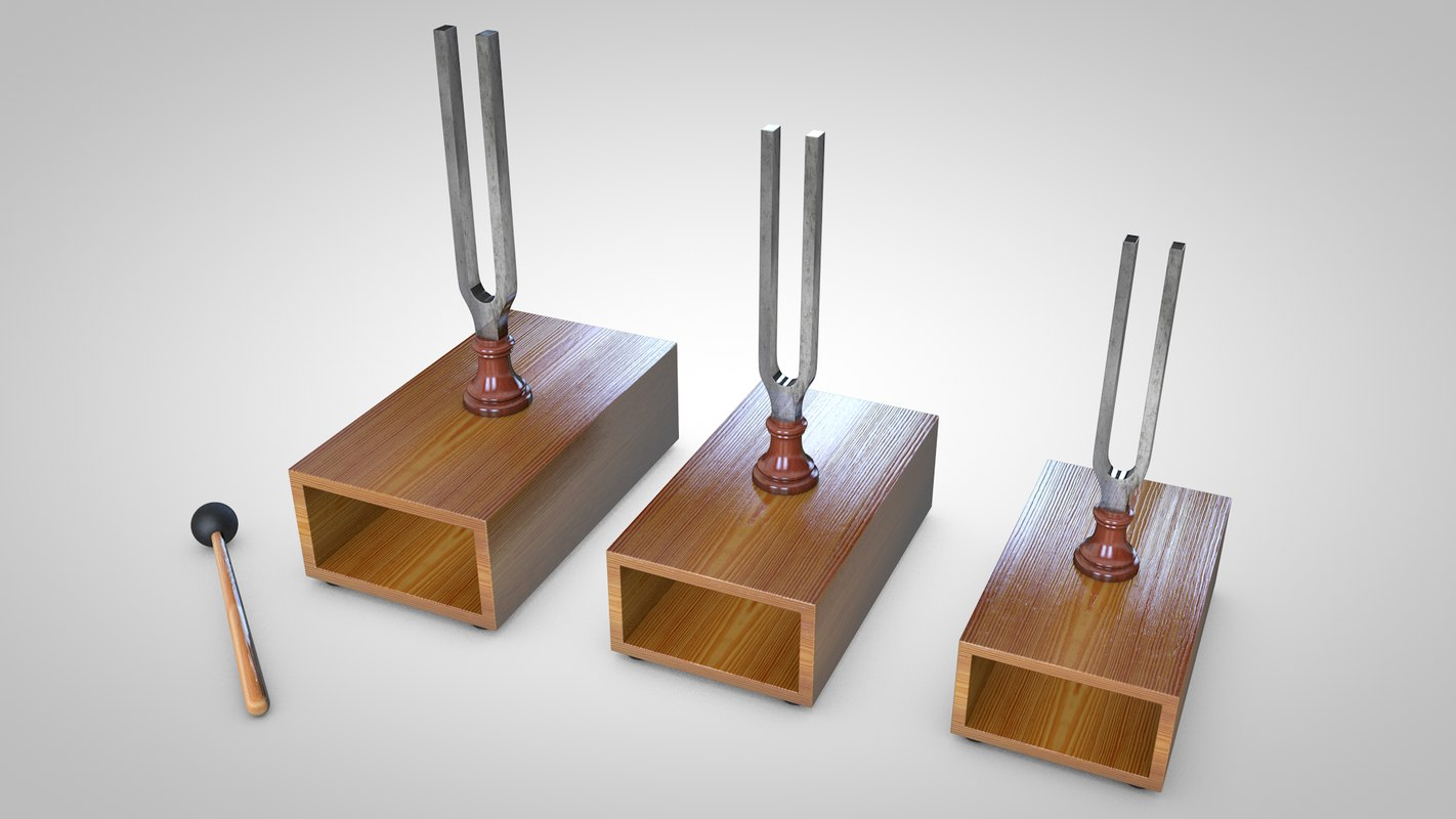 tuning fork 3d c4d