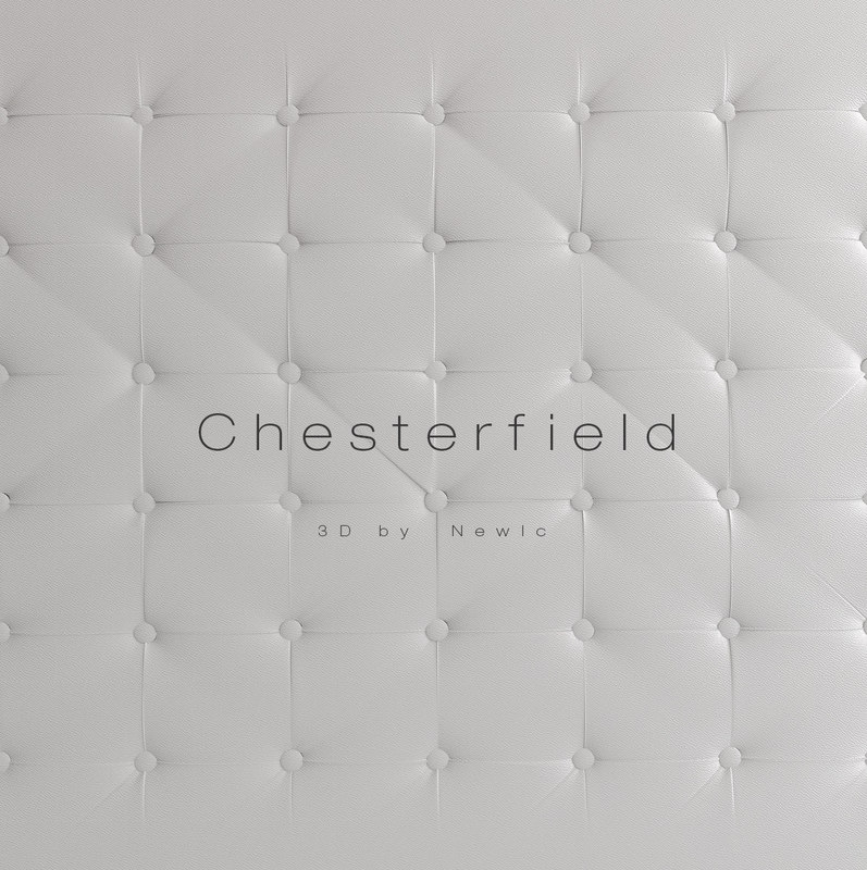 chesterfield wall 3d model