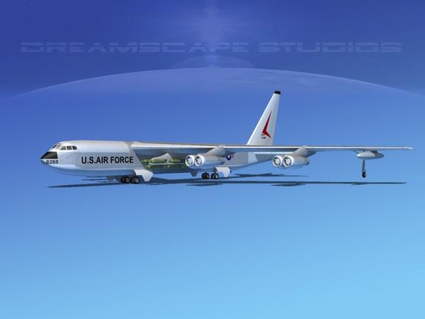 stratofortress boeing b-52 bomber 3d model