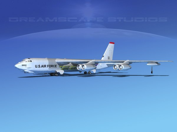 stratofortress boeing b-52 bomber 3d model