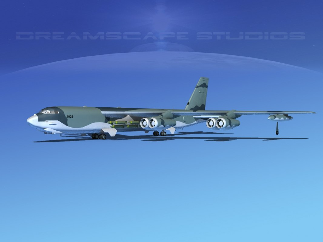3ds stratofortress boeing b-52 bomber