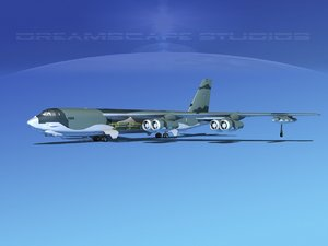 3ds stratofortress boeing b-52 bomber