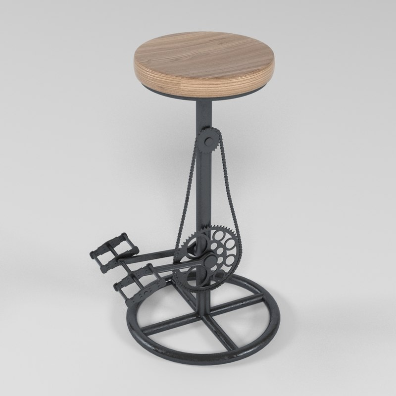 3d barstool realistic