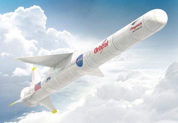 pegasus rocket x 3d model