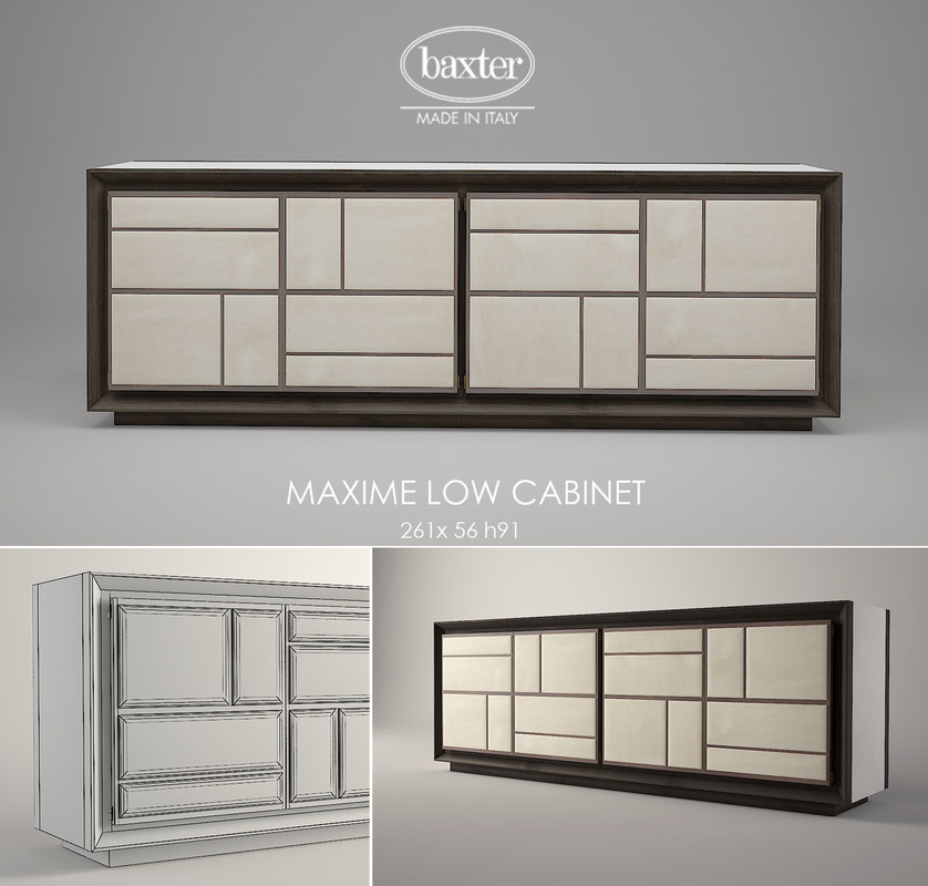 3ds max baxter maxime cabinet