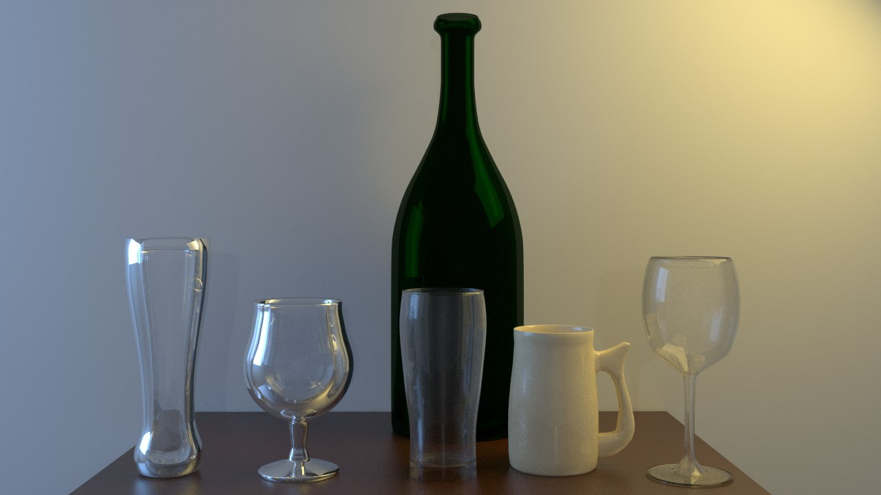 3d glassware drinking glasses model