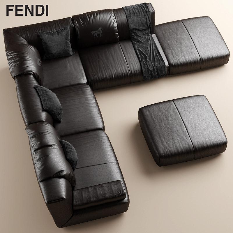 3d sofa fendi casa model