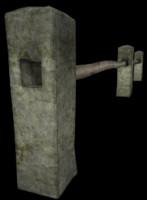 fence concrete 3d model