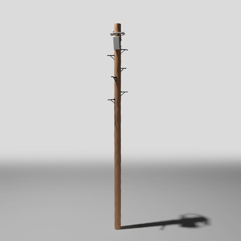 telegraph pole 3d 3ds