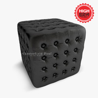 chesterfield pouf 3d max