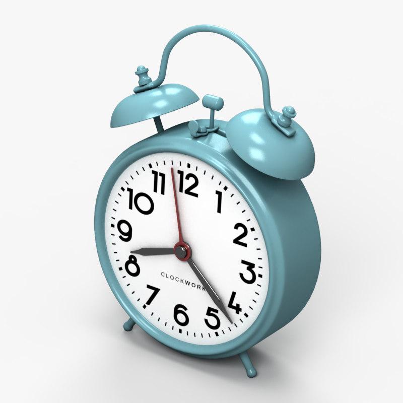 3d model of classic alarm clock 2
