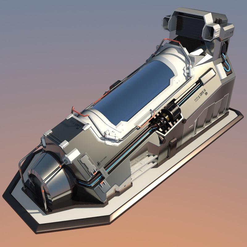 max futuristic cryopod