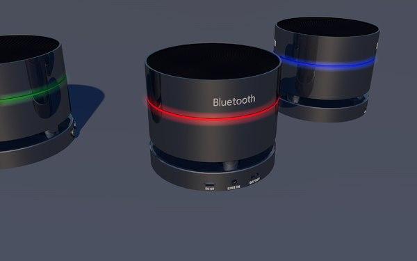 3d model of mini speaker bluetooth