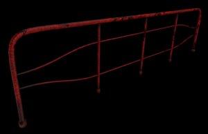 metal handrail 3d fbx