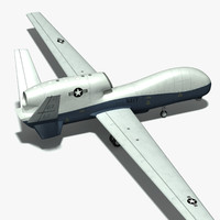 unmanned global hawk 3d obj