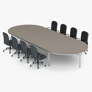 3d model table conference