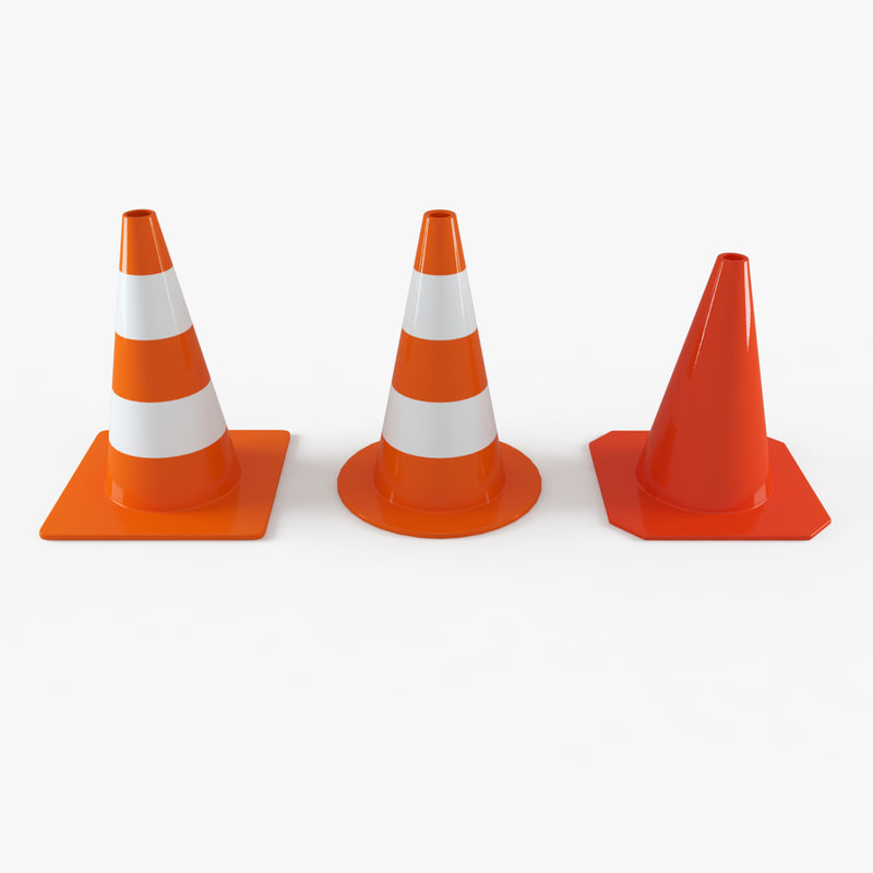 traffic cone street elements 3d max