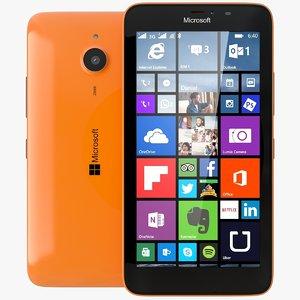 3d 3ds microsoft lumia 640 xl
