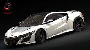 3d model honda nsx 2016