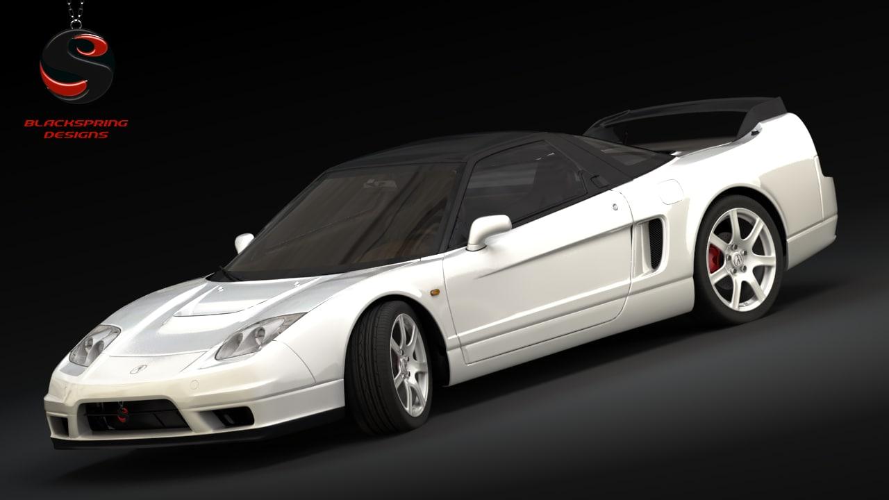 3d model acura nsx-r 2005