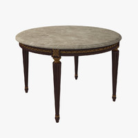 3d french louis xvi dining table model