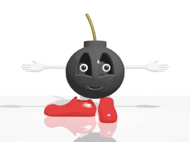 3d fun cartoon character model