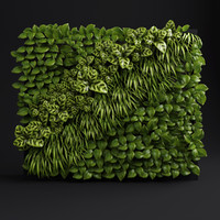 green wall 3d 3ds