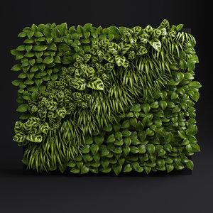 green wall 3d 3ds