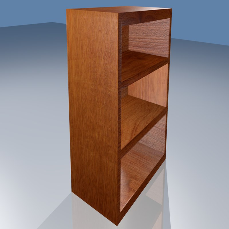3d wooden shelf model