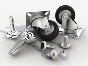 fasteners bolts nuts 3ds