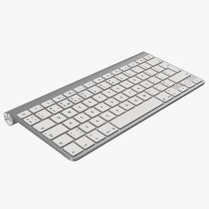 3d model apple wireless keyboard modeled