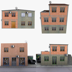 3d model of 4 duplex house