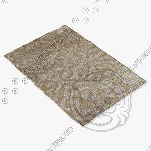 3d model jaipur rugs hr10