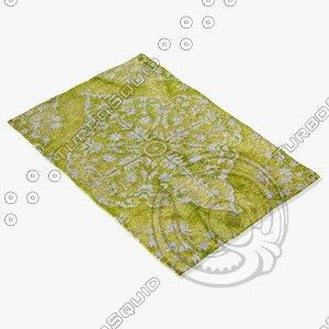 3d model of jaipur rugs hr03