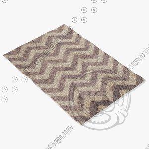 3d jaipur rugs hen04 model