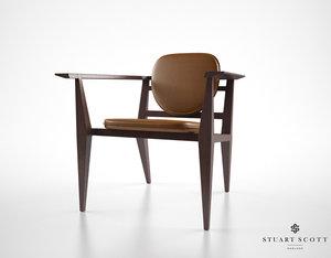 3d model stuart scott constructor chair