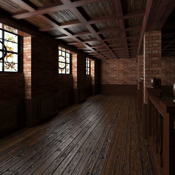 3d base pub interior scene