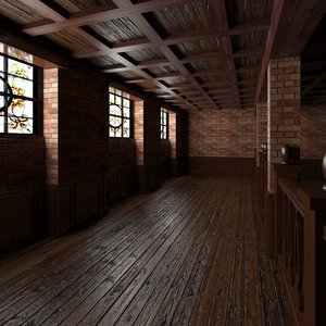 3d base pub interior scene