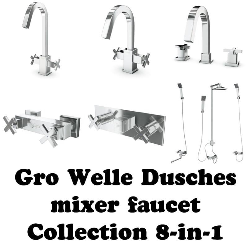 3d model gro welle mixer faucet