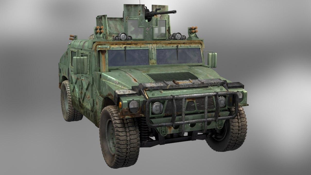 3d military hummer model