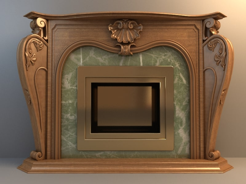 3d max fireplace