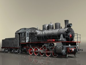 locomotive series em steam 3d model
