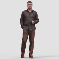 Mark Casual Walking - 3D Human Model