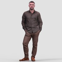 Mark Casual Standing 1 - 3D Human Model