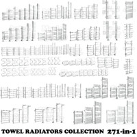 3d max towel radiators