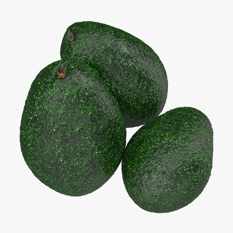3ds avocado modeled nature