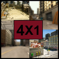 4 1 city streets 3d model
