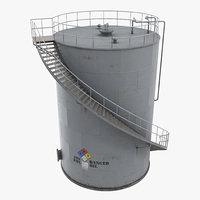 3d oil storage tank model
